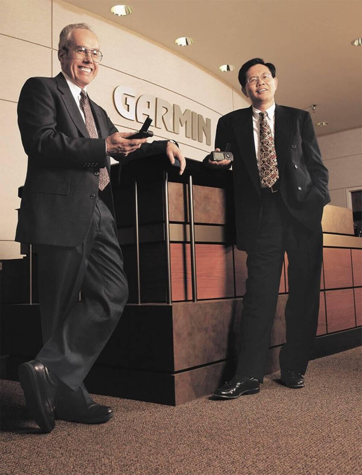 (แกรี เบอร์เรลล์ และ ดร. มิน เกา สองผู้ก่อตั้ง – ภาพจาก garmin.com)