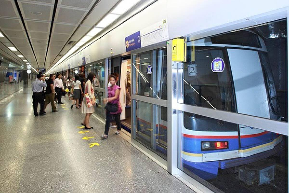 รถไฟฟ้าใต้ดินสายแรกของประเทศไทย