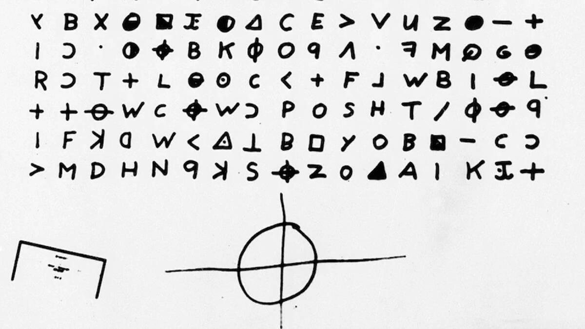 อักษร Crytogram และสัญลักษณ์ของ Zodiac Killer