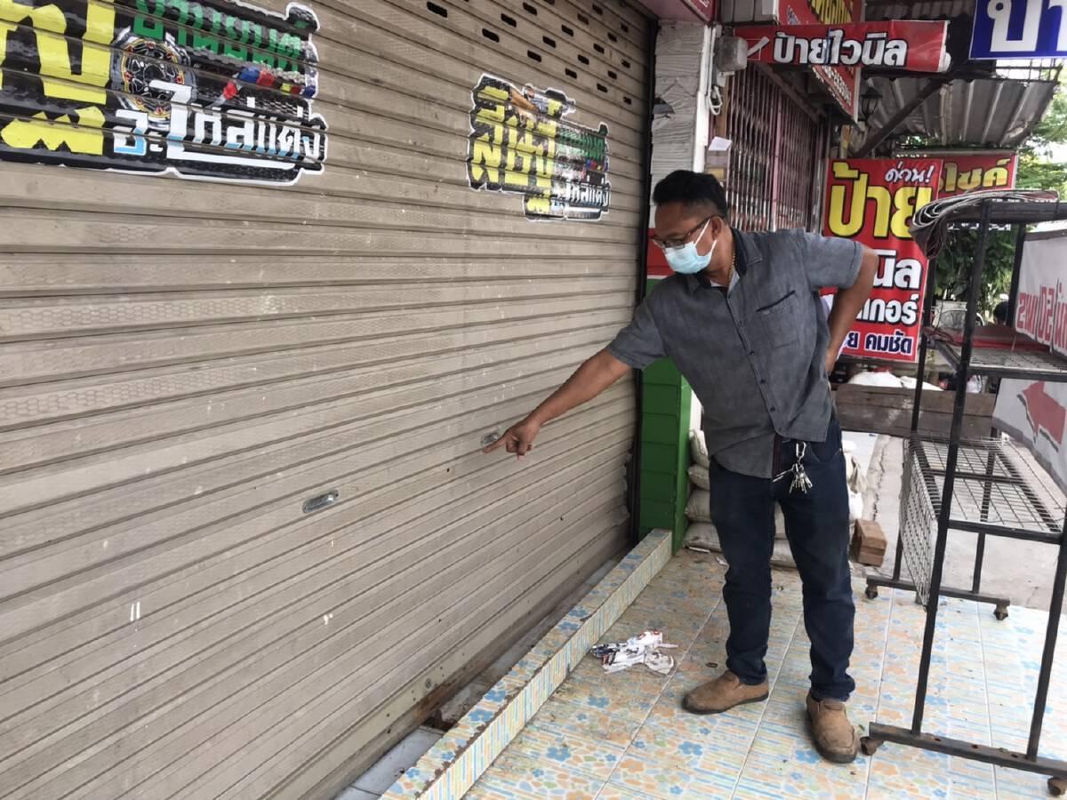 เปิดวงจรปิดล่ามือปืนสาดกระสุน4นัดใส่ร้านซ่อมรถดังกลางเมือง
