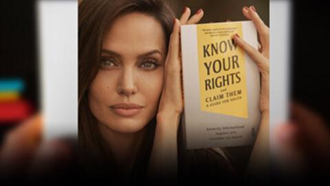 """แองเจลินา โจลีร่วมกับแอมเนสตี้เปิดตัวหนังสือ """"Know Your Right and Claim Them"""""""