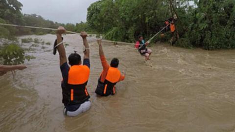 """อิทธิพลพายุ """"คมปาซุ"""" ถล่มเกาะลูซอนฟิลิปปินส์ สังเวยแล้ว 9 ราย"""
