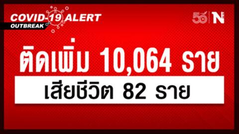 ศบค. เผย ยอดผู้ติดเชื้อวันนี้ 10,064 หายป่วย 10,988 เสียชีวิต 82 ราย