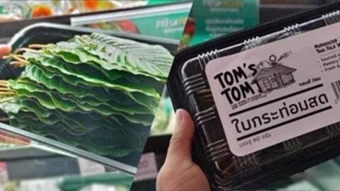 พืชกระท่อมไทยโกอินเตอร์ เป็นสินค้าขึ้นห้างแพ็กอย่างดีมีโลโก้